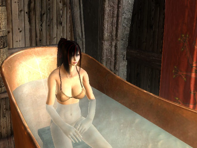 Selena in der Badewanne