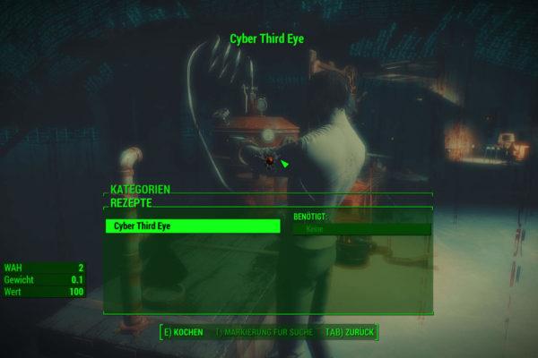 Cyber Third Eye – Werkbankansicht